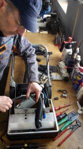 Reparatur eines Reinigungsgerätes